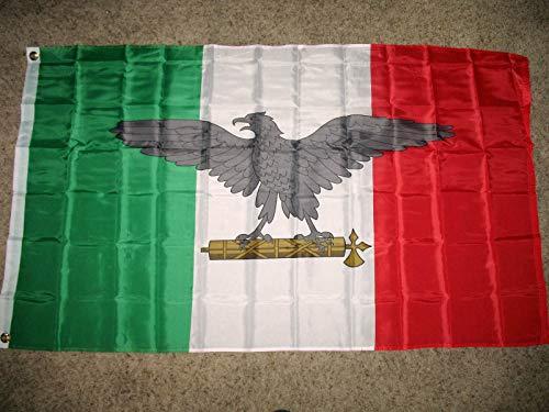 Bandera de Batalla de Guerra de Italia 3x5 pies Bandera fascista Italiana