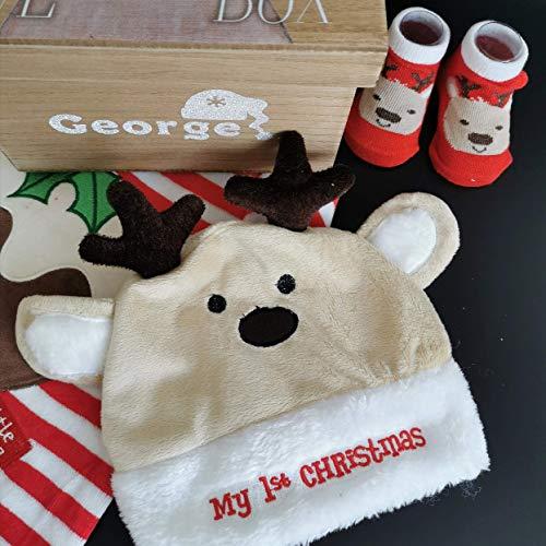 Bébé Chapeau et chaussettes Ensemble de cadeau de Noël – Renne