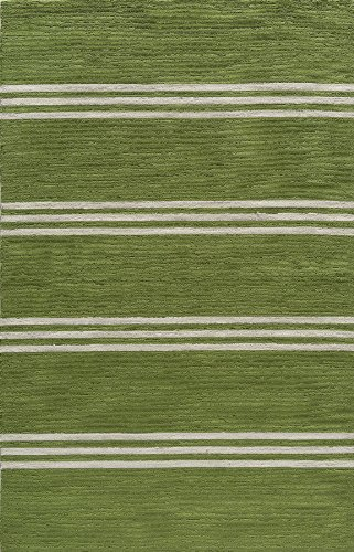 Momeni Rugs VERANVR-16LIM80A0 Veranda Collection, Contemporary Indoor & Outdoor Area Rug, Easy to Clean, UV protected & Fade Resistant, 8' x 10', Lime Green