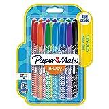 Paper Mate InkJoy Stylos-billes Wrap, pointe moyenne, assortiment de 18 couleurs
