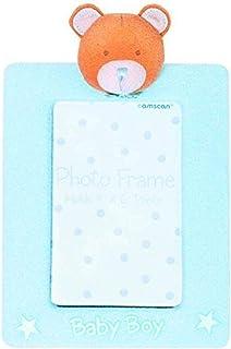 Blue Precious Bear Baby Shower Fabric Frame