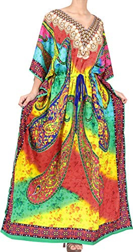 HAPPY BAY Mujeres caftán túnica 3D HD Impreso Kimono Libre tamaño Largo...