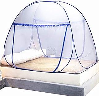 Mosquitera desplegable para cama doble, Carpa portátil de viaje con doble puerta y cremallera, fácil instalación, malla fina, para acampar al aire libre en el dormitorio
