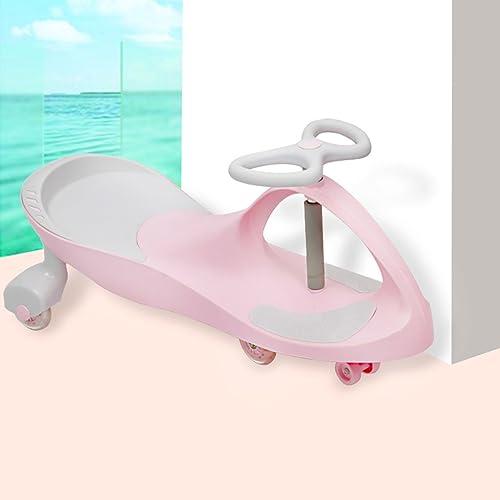 Kinder Twist Auto Stille Licht Rad Yo Baby Lauflernhilfe Roller 1-6 Jahre Alt Spielzeug Auto Schaukel Auto 42  78 cm (Farbe   Rosa)