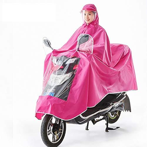 RENLEINB Impermeable de Bicicletas, señoras Poncho, Poncho Adulto, Impermeable Motocicleta, Coche eléctrico...