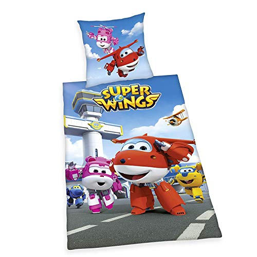 Plains Beddengoed glad Super Wings Jett Donnie Dizzy Paul vliegtuigen 135 x 200 cm Wow - All-In-One Outlet-24 -