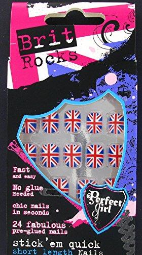 Perfect Girl Brit Rocks Cool Brit Stick 'em Schnell Falsche Nägel