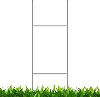 VIBE INK Pack of 50 Quantity Heavy Duty Metal H-Stakes H Frame Wire Stakes - Yard Sign Stake - Use with 4mm or 5mm Corrugated Signs