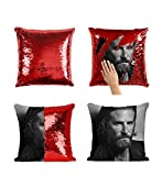 Bradley Cooper A Star is Born Sequin Throw Pillow Cover MRZ3267 Funny Pillow with Insert 16X16 Case Dcor Decorotive Pillowcase for Girl Her Him (ADD Insert)