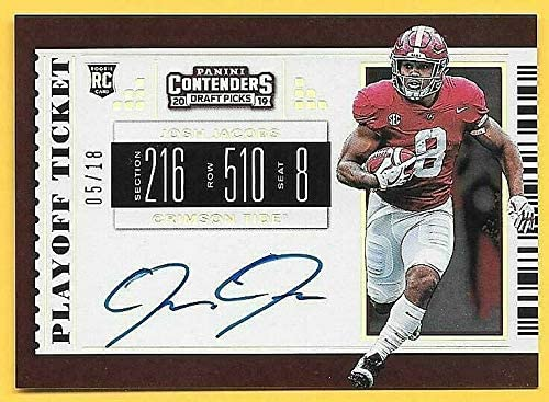 2019 Contenders DP Playoff Ticket #122 RC Jacobs Autograph Limited price sale Super-cheap Josh
