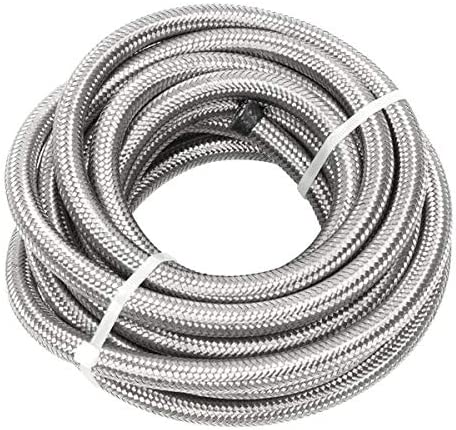 Aveland Auto 6AN 20-Foot Universal Fuel Virginia Beach Mall Stainless Braided Beauty products Steel