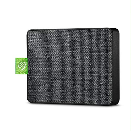 Seagate Ultra Touch SSD, 1 TB, Disco Duro Externo Portátil SSD, negro, USB-C USB 3.0 para PC & MAC, 4 meses del Plan Adobe Creative Cloud Photography y 3 años de servicios Rescue (STJW1000401)