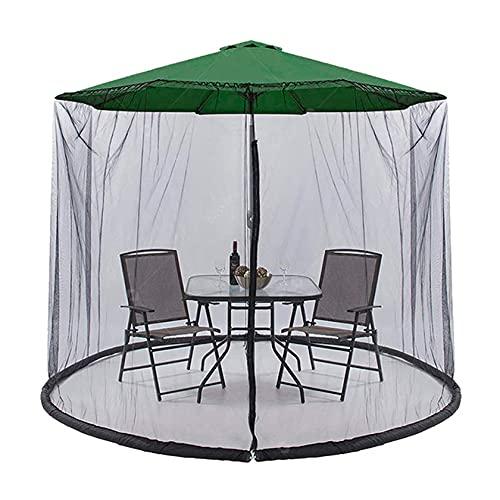 Sombrilla Mosquitera con cremallera Gazebo Mosquitera para sombrilla Sombrilla de jardín al aire libre Pantalla de mesa Sombrilla Mosquitera Cubierta para patio de restaurante al aire libre al aire