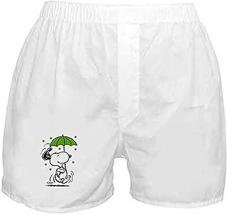 CafePress Snoopy Raining Clovers Boxer Shorts