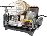 Large Dish Drying Rack, 2 Tier Stainless Steel full Capacity Dish Drying Rack with wine glasses rack, Cutting Board Holder and Dish Drainer for Kitchen Counter