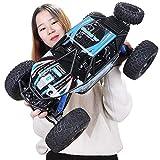 Ycco 1/10 4WD RC Rock Crawlers 4x4 Conducción de automóviles Motores dobles Manejo Pie grande Control remoto Modelo Vehículo todo terreno Camiones de alta velocidad para niños Juguetes para niños Vaca