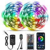 20M Bluetooth Tiras RGB 5050, Tomshine 360LEDs Tiras de Luces ,Control Remoto/APP Control,Sincronización de música...