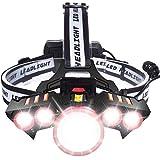 【進化版】LEDヘッドライト USB 充電式 電気出力 高輝度 明るい3000ルーメン ズーム 4モード Led ライト ヘッドランプ 人感センサー機能付き 電量ディスプレイ可能 軽量 防水 防災 登山 釣り用 ランニング 作業用 ヘルメット ライト(PSE認証 18650リチウムイオン蓄電池 2本付属していません)