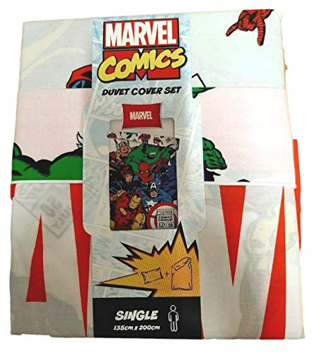 copripiumino singolo hulk Marvel - Set copripiumino singolo 135 x 200 cm