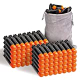 Refill Darts 80PCS Bullets Compatible with Nerf Ultra Blasters Toy Gun - Black with Storage Bag