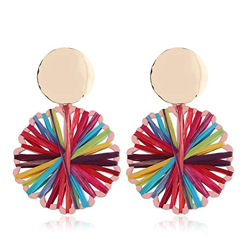 Wicemoon DIY Accessories Hand-Woven Colorful Earrings Elegant Jewelry for Party Meeting Dating Wedding Daily Wear (Light Color)