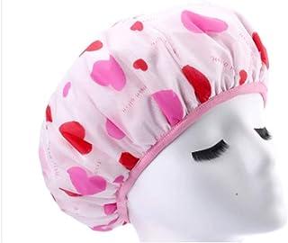 Triple Double Shower Cap, Shower Cap Thickening Adult, Waterproof Shower Cap, Baking Oil Cap, Hair Cap Film Kuaisuganfa Superabsorbent (Color : C)