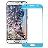 Hongmeish Sustituto de Partes Antiguas o Malas. Pantalla Frontal IPartsBuy Lente de Cristal Externa for Samsung Galaxy S6 / G920 Accesorios (Color : Blue)