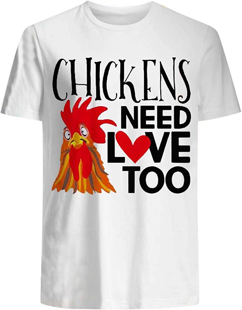 Cute Rooster Graphic Shirt Summer Round Neck Funny Sarcastic Chicken Tee Casual Short Sleeve Cock Fight T Shirt