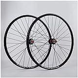 QHY Ruedas Ruedas Bicicleta 700c Juego Ruedas Bicicleta 29 Pulgadas Casete 7-11 Velocidades Ciclismo Carretera Freno Disco QR Rodamientos Sellados Llantas Negras (Color : Black, Size : 700c)
