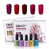 Elite99 Gel Nail Polish Colours Gift Set Soak Off UV LED Gel Nail Varnish 5 Colours Manicure Lacquer Nail Art Starter Kit C004