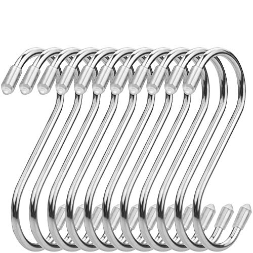 50 Pieces S Hanging Hooks - Metal S Shaped Kitchen Pot Pan Hooks Hangers for Utensils - 9cm Medium S-Shaped Hooks
