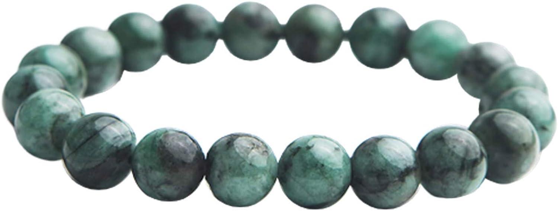 Natural Green Emerald Ranking TOP18 Gemstone Round OFFicial shop Women Bracelet Beads Men 9m