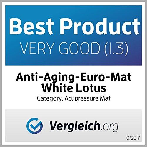 White Lotus Tapis Acupression + Coussin | Kit Digitopuncture pour le dos, le cou, la relaxation musculaire | Utilisation Tapis Acupuncture | Fabriqué en Europe
