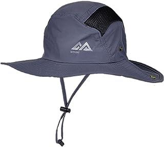 マウンテンハンター UPF50+ uv カット 率 99.9% つば広 帽子 日除け ハット 折りたたみ ひも付き ユニセックス