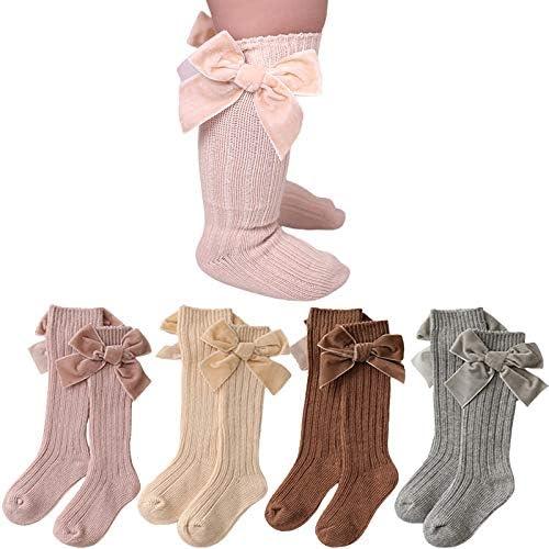 Baby Girl Knee High Socks Newborn Bow Knit Socks Infant Dress Socks Tube Uniform Stockings 0 product image