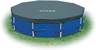 Intex 28031E N/AA Cubierta de alberca de 12 pies, Marco de Metal sobre el Piso, 1 Paquete, Azul