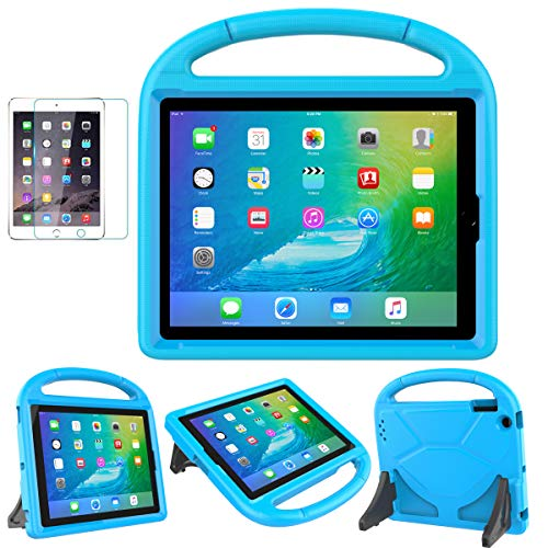 """SUPLIK iPad 2/3/4(9.7 inch,2011/2012) Case for Kids - Durable Shockproof Protective Handle Stand Case with Screen Protector for Apple iPad 2nd/3rd/4th Generation(NOT Fit Other 9.7"""" Models), Blue"""
