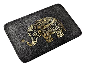 goldwheat Doormats Floor Mat Welcome Entrance Door Mat for Indoor Outdoor Non-Slip Washable Areas Shoe Rugs (Elephant)