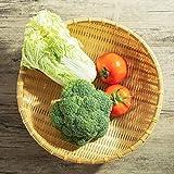Productos tejidos de bambú, recogedor redondo, fruta de la granja del hogar, cesta de pan al vapor, almacenamiento de...