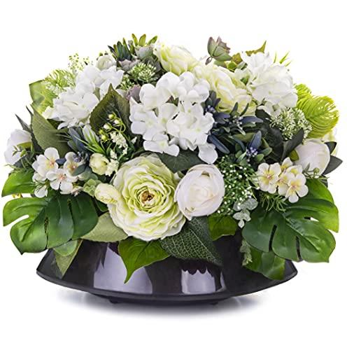 Grabschmuck Blumengesteck Grabgesteck Friedhof Künstliche Blumen Eustomas