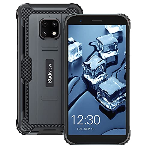 Móvil Resistente, Blackview BV4900 Pro 4G IP68 Impermeable Smartphone 4+64GB Octa-Core 5580 mAh 5,7' HD+ Triple Cámara 13MP Android 10 Telefono Movil Robusto NFC/Face ID/GPS