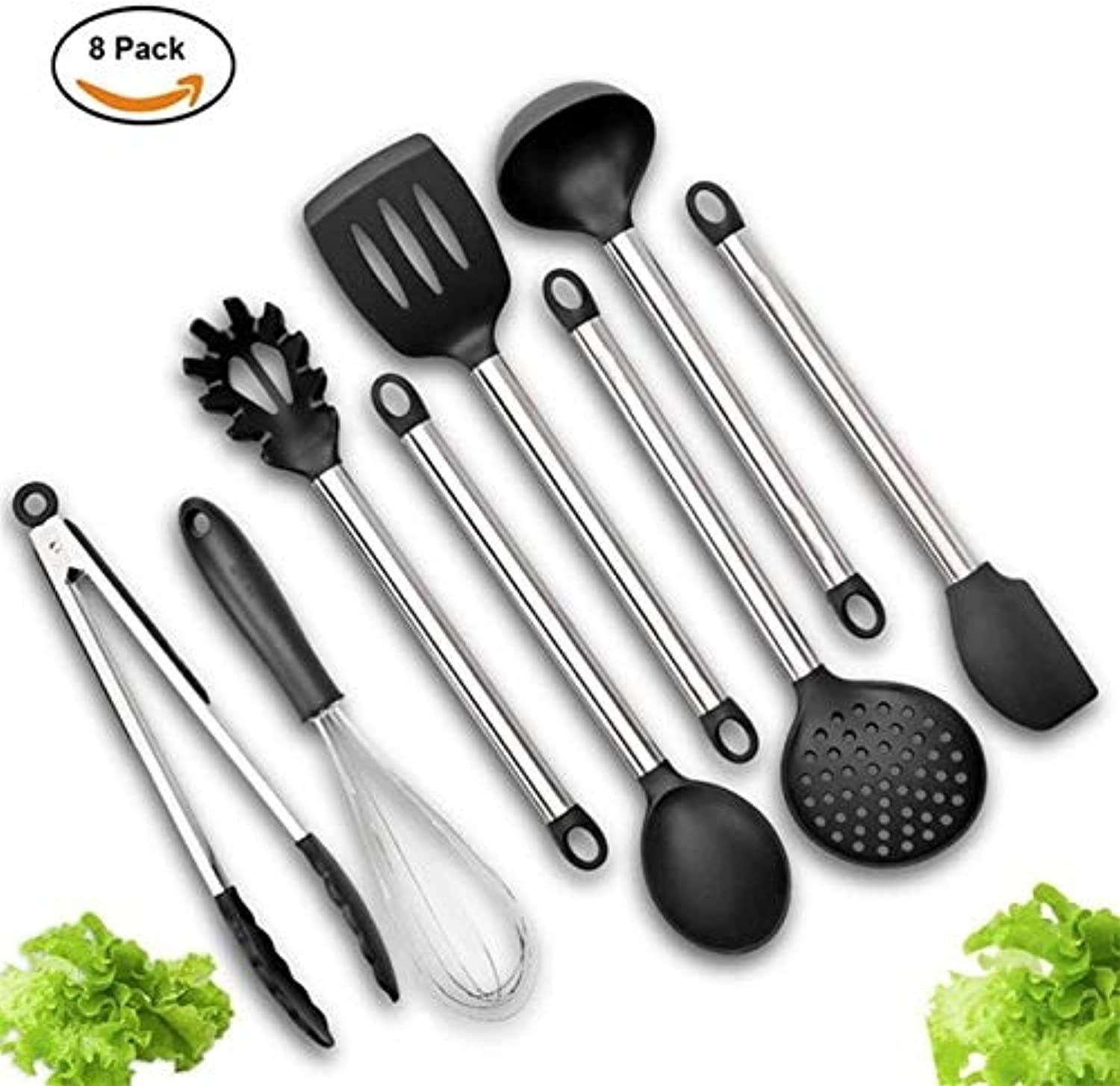 Farmerly Kitchen Cooking Utensils Set of 8 Pieces Premium Heat Resistant Baking Tools Kitchen Cooking Utensils  GH40   8 Pieces