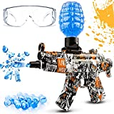 Gel Ball Blaster, Rechargeable Gel Ball Gun with 5000 Gel Balls, Automatic Splatter Ball Gun Shoots up to 65Ft, Backyard Fun and Outdoor Games for Kids and Adults Age 12+ (Orange)