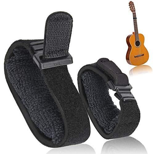 Facmogu 2PCS Guitar String Mute Dampener, Guitar Fret Wraps, Guitar String Cover Belt, Adjustable Bass Mute Silencer, Fretboard Muting Straps, Musical Instrument Accessories