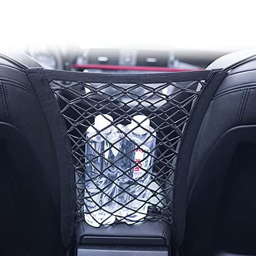 RUIZHI Bolsa de Malla Organizadora de Coche, Red de Equipaje de 30x25 cm, Bolsa de Coche Que Se Puede Utilizar Para VehíCulos Todo Terreno y Otros Coches con Reposacabezas