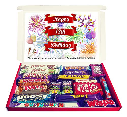 Personalised Happy 18th Birthday Gift Chocolate Hamper Selection Box