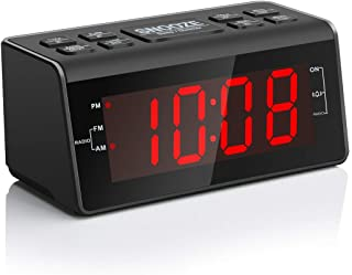 "Jingsense Digital Alarm Clock Radio with AM/FM Radio, 1.2"" Big Digits Display, Sleep Timer, Dimmer and Battery Backup, Bed..."