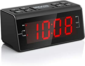 "Jingsense Digital Alarm Clock Radio with AM/FM Radio, 1.2"" Big Digits Display, Sleep Timer, Dimmer and Battery Backup, Bed..."