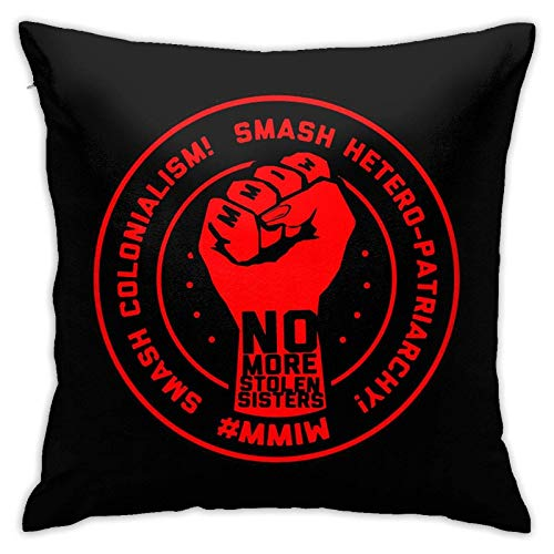 xiancheng No More Stolen Sisters Mmiw Missing Murdered Indigenous Decorative Throw Pillow Covers 18 x 18 inch Pillow Covers for