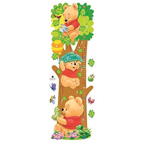 Smart Art Disney Winnie the Pooh Maßband Wandaufkleber Schön PVC Höhe Wandaufkleber Karikatur Wanddekorationen Wandtattoos zum Kindergarten Schlafzimmer
